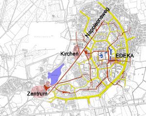 Blaue Schule - Lage im Stadtteil