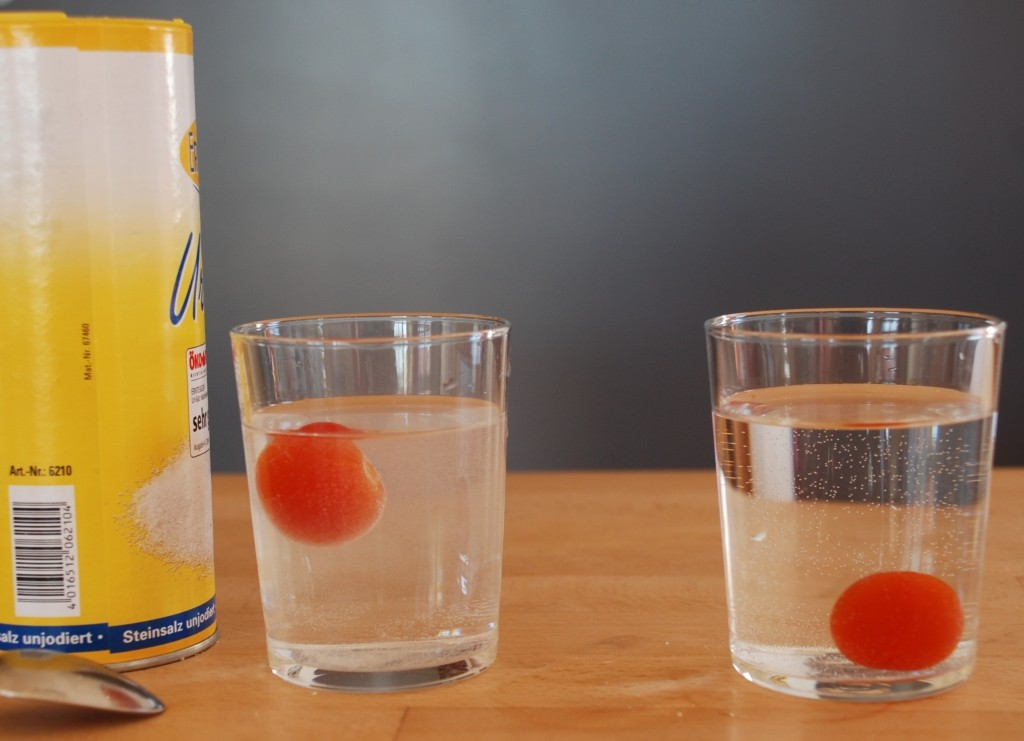 Salzwasser ist dichter ... - Nela forscht - Naturwissenschaft für Kinder