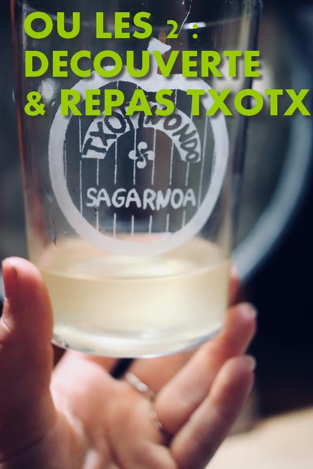 Combinez la découverte et le repas Txotx ! Arrivez pour 12h00 ou 19h00, pour découvrir notre chai de production et vous initiez au Txotx avant de passer à table à 12h30 ou 19h30. Vous prolongerez la dégustation de nos boissons tout au long du repas ...