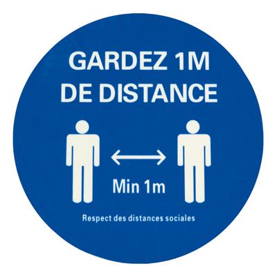 Respecter un mètre de distance minimum