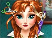 Игра Холодное сердце прическа Анны