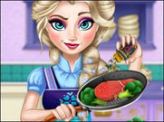 Игра Холодное сердце Эльза готовит кушать