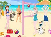 Игра пляжный волейбол с героями Холодного сердца