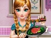 Игра Холодное сердце анна готовит кушать