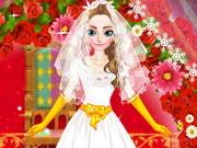 Игра одевалка свадебный образ Анны из Холодного сердца