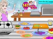 Игра Эльза готовит овощной салат