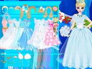 Игра одевалка стильная невеста Эльза