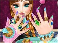 Игра Холодное сердце маникюр Анны