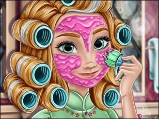 Игра Холодное сердце косметические процедуры Анны
