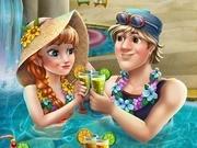 Игра Холодное сердце Анна и Кристофф в бассейне