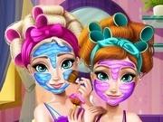 Игра Холодное сердце макияж анны и Эльзы