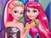 Игра Холодное сердце одевалка анна и Эльза в стиле рок-н-ролл