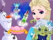 Игра Холодное сердце зомби ребенок Эльзы
