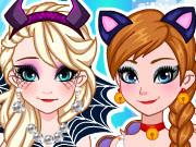 игра одевалка анна и эльза на хэллоуин