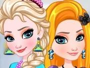 Игра Холодное сердце одевалка Эльзы и Рапунцель