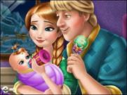 Игра Холодное сердце ребенок Анны и Кристоффа