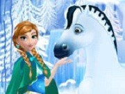 Игра Холодное сердце Анна и ее лошадка