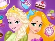 Игра Холодное сердце чайная вечеринка Эльзы и Рапунцель