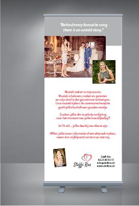 Roll-up banner - Huwelijkszangeres Steffi Ras