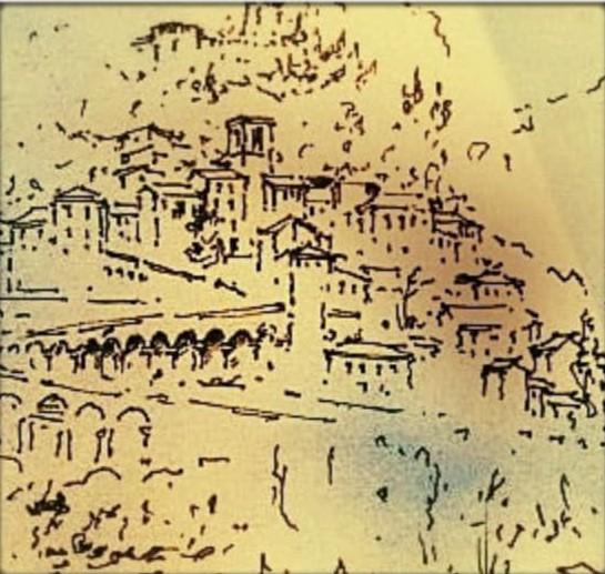 Schizzo di Arquata del Tronto.