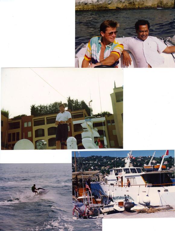 Mein Smutje und ich, daheim in Fontvieille/Monaco usw.