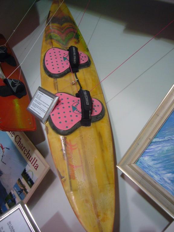 Frühes Kiteboard, die Waveboards sind heute in