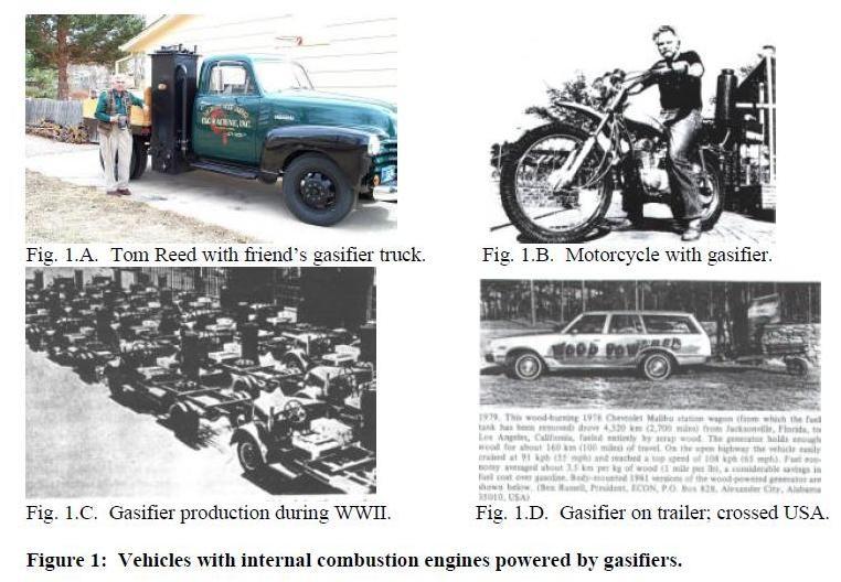 Vehicles amb motors impulsats per gasificadors
