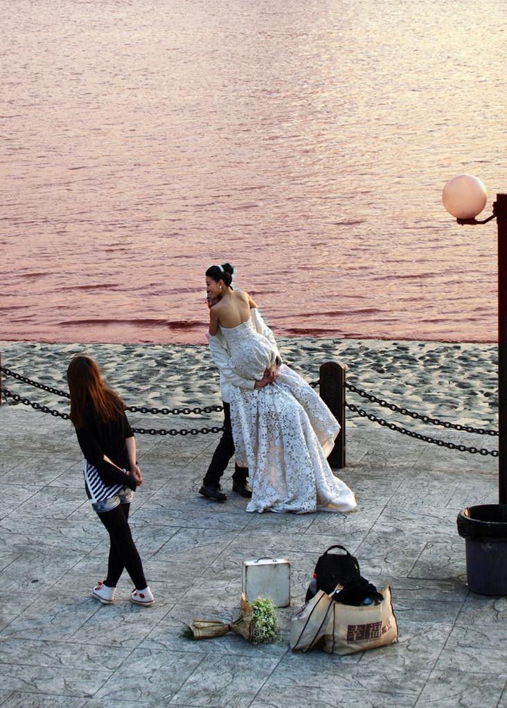 fotos de novia a orillas del rio Huanpu
