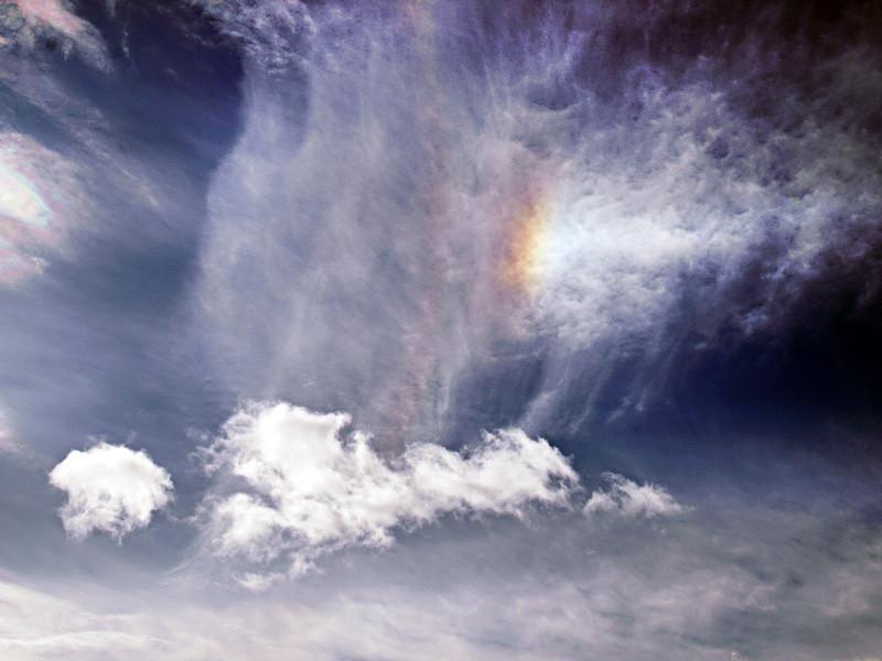 Iridisación en nubes