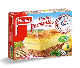Findus Hachis Parmentier pur boeuf 2 parts surgelé