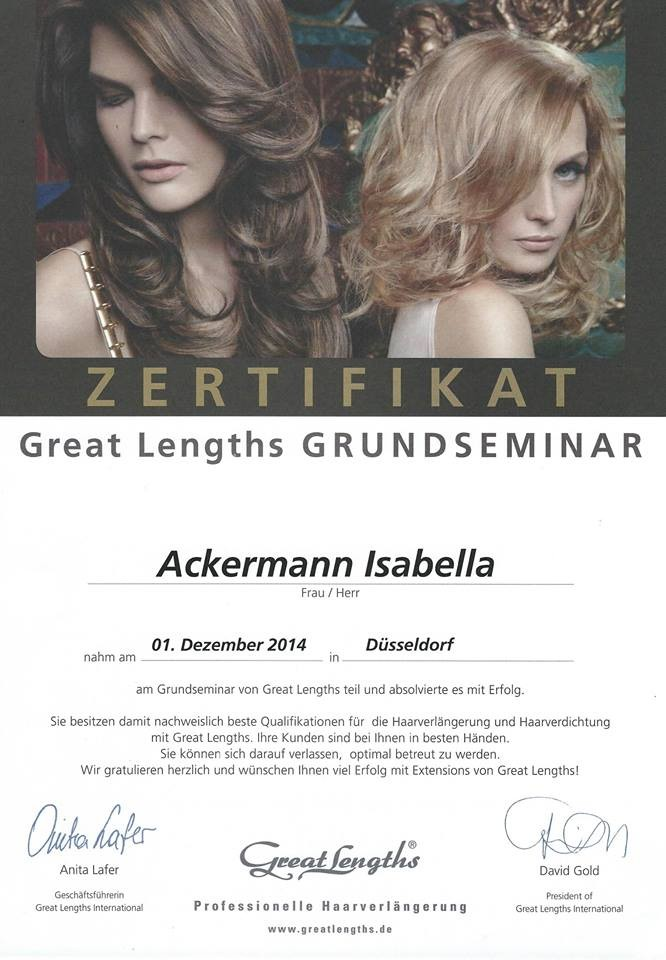 Grundseminar Great Lengths Haarverlängerungen