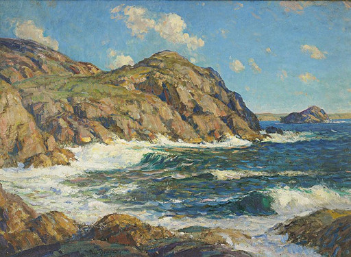 Paul Dougherty   Summertime, Coast of Cornwall