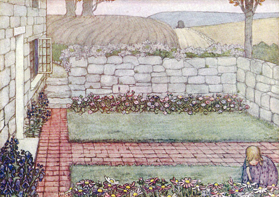 Winifred Cayley Robinson  A Cornish Cottage         This illustrates the front garden of 'Vellensagia'