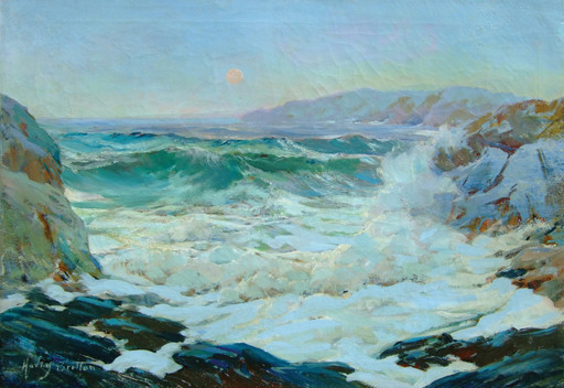 Harry Britton   Moonrise on the Cornish Coast