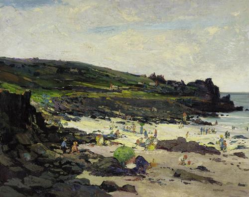 Marianna Sloan  'A Rocky Beach'  (Porthmeor, St Ives)  (Issue 6)