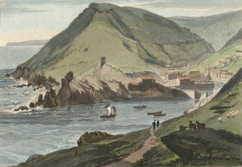 William Daniell's depiction of Polperro dating from 1823