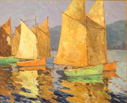 George Turland Goosey  'St Ives Harbour'  (Issue 7)