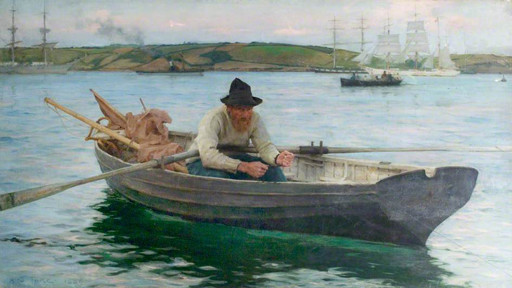 Henry Tuke   The Fisherman - one of two works bought from the 1894 exhibition for Nottingham Castle Museum's permanent collection