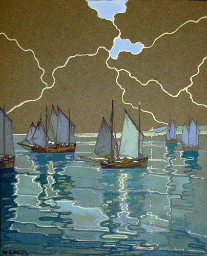 Donald Angier     Old Timers setting out, St Ives