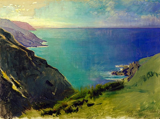 Abbott Thayer  'Cornish Headlands'  (Smithsonian Institution, Washington DC)