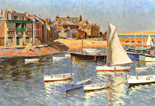 Arthur Hayward - A Corner of the Harbour, St Ives