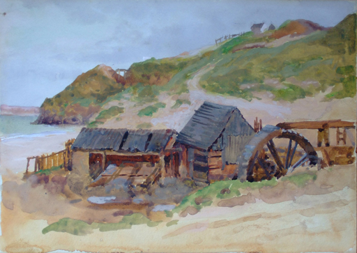 Eardley Blomefield  'Waterwheel Tin Stamps, Carbis Bay'  (Issue 2)