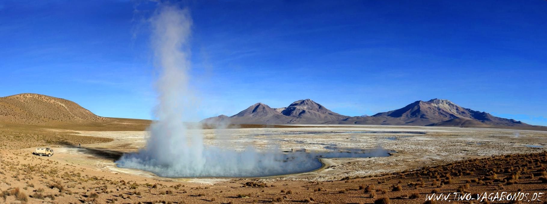 CHILE 2015 - SALAR SURIRE - THERME POLOQUERE - 4300 m HÖHE