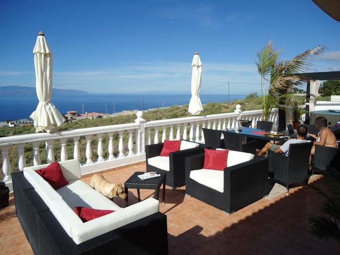 Terrasse mit Gomera Blick