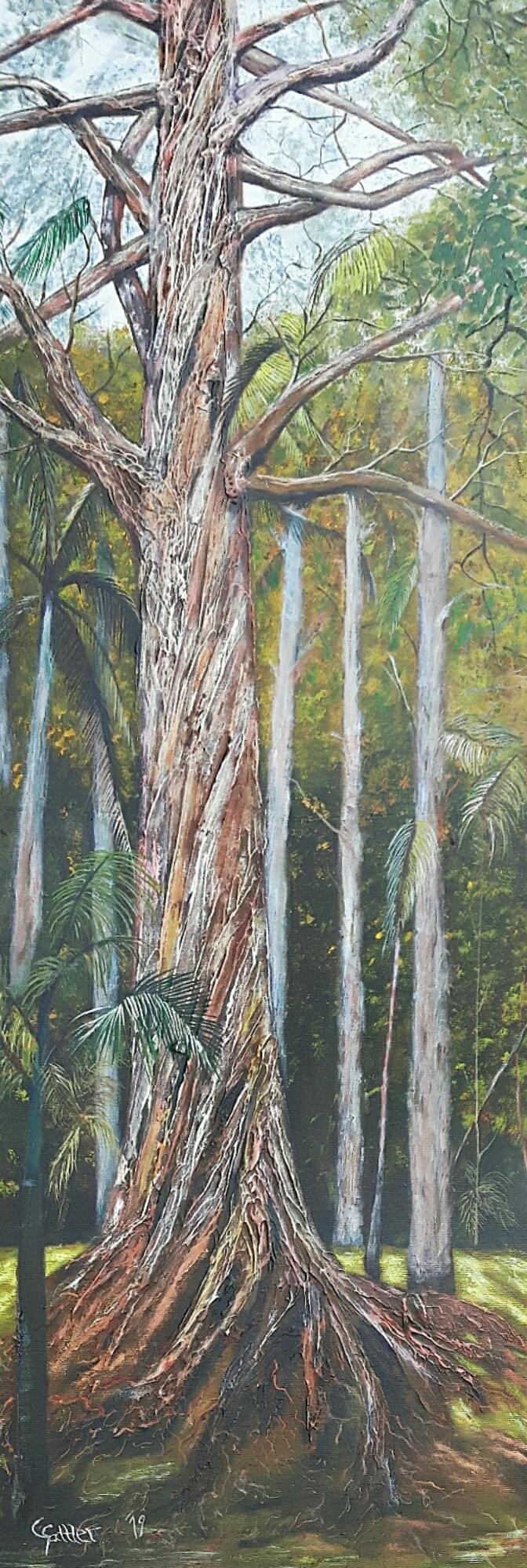 Eukalyptus (Acryl, 40 x 120 cm)