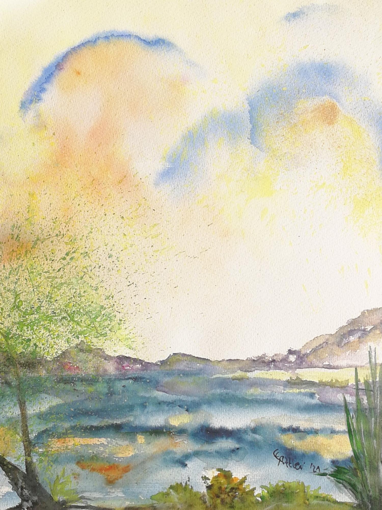 Seelenspiegel (Aquarell, 30 x 40)