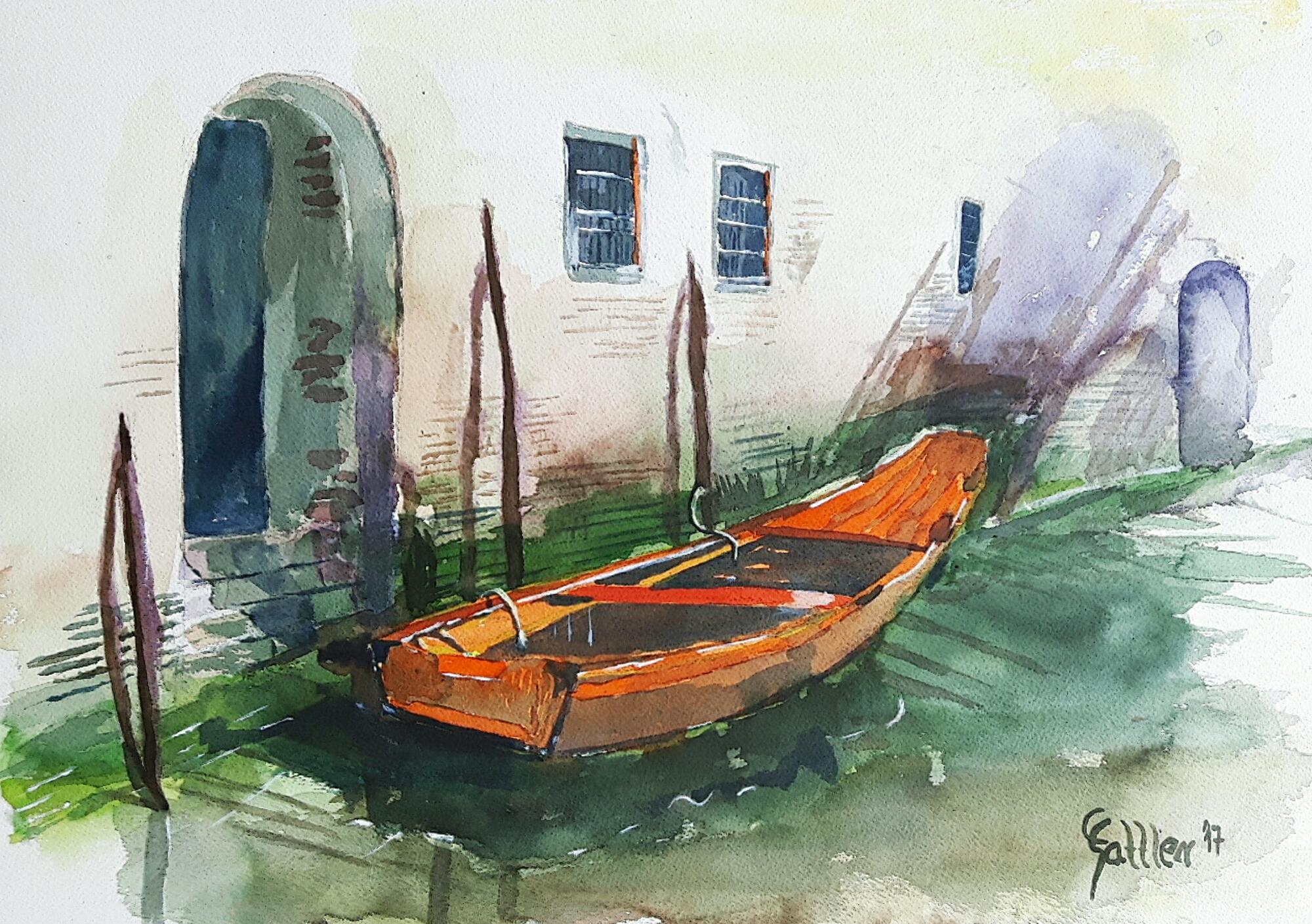 Venedig (Aquarell, 36 x 51)