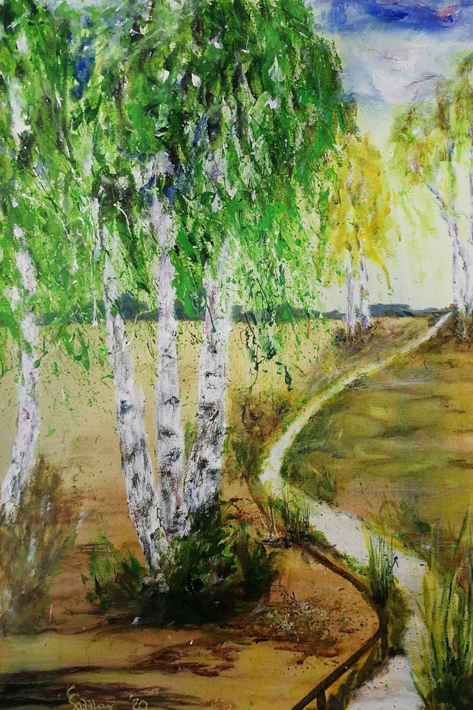 Moorzauberwald (Acryl, 50 x 709