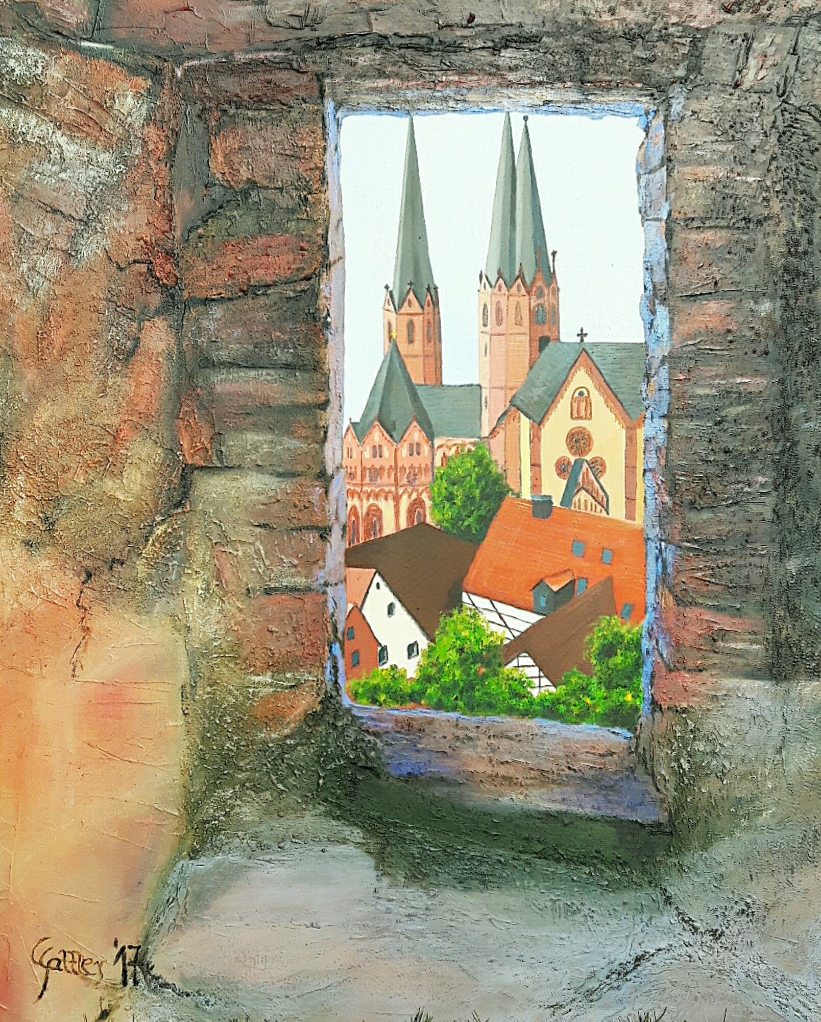 Halbmondblick (Acryl, 80 x 100)