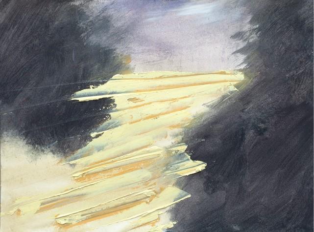 Robert Zandvliet (RZ_2019/02): Eitempera/Öl auf Papier – 2019, rückseitig signiert
